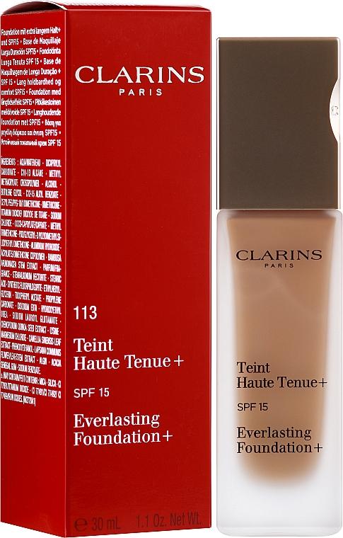 Устойчив крем фон дьо тен - Clarins Everlasting Foundation+ SPF 15