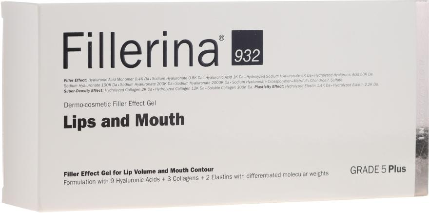 Контуриращ гел за увеличаване на обема на устни, ниво 5 - Fillerina Lips And Mouth Grade 5 Plus