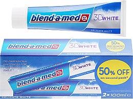 "Парфюми, Парфюмерия, козметика Комплект пасти за зъби ""Деликатно избелване"" - Blend-a-med 3D White Delicate White Toothpaste"
