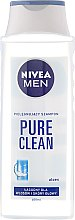 "Парфюми, Парфюмерия, козметика Шампоан ""Чист заряд"" - Nivea For Men Pure Clean Shampoo"