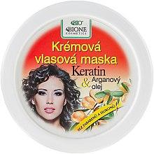Парфюми, Парфюмерия, козметика Крем маска за коса - Bione Cosmetics Keratin + Argan Oil Cream Hair Mask