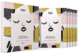Парфюми, Парфюмерия, козметика Комплект маски за лице - Pibu Beauty Flower Extract Purifying Clay Mask Set (f/mask/5x18g)