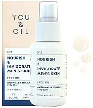 Парфюмерия и Козметика Подхранващо и енергизиращо масло за лице за мъже - You & Oil Nourish & Invigorate Men's Skin Face Oil