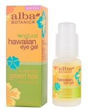 Парфюмерия и Козметика Гел за кожата около очите Зелен чай - Alba Botanica Natural Hawaiian Eye Gel Revitalizing Green Tea
