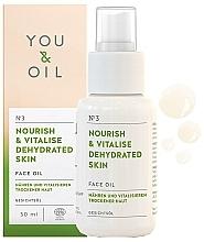 Парфюмерия и Козметика Подхранващо и възстановяващо масло за лице - You & Oil Nourish & Vitalise Dehydrated Skin Face Oil