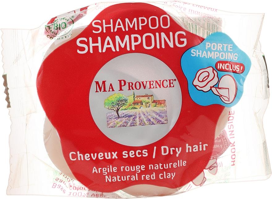 """Твърд шампоан за суха коса """"Червена глина"""" - Ma Provence Shampoo"""