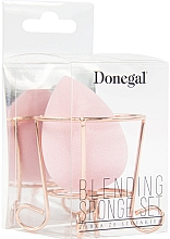 Парфюмерия и Козметика Гъба за грим с поставка, розова - Donegal