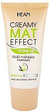 Парфюми, Парфюмерия, козметика Матиращ тонален флуид за лице - Hean Creamy Mat Effect