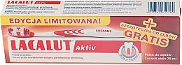 Парфюмерия и Козметика Комплект паста за зъби + четка - Lacalut Activ Paradontosis