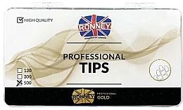 Парфюмерия и Козметика Изкуствени нокти , прозрачни - Ronney Professional Tips