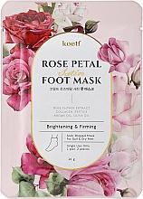 Парфюмерия и Козметика Укрепваща маска за крака - Petitfee&Koelf Rose Petal Satin Foot Mask
