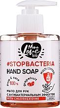 """Парфюмерия и Козметика Антибактериален сапун за ръце """"Грейпфрут и чаено дърво"""" - MonoLove Bio Hand Soap With Chlorhexidine"""