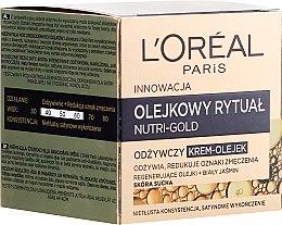 Парфюми, Парфюмерия, козметика Крем-масло за суха кожа - L'Oreal Paris Nutri Gold Cream-Oil