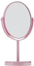 Парфюмерия и Козметика Овално огледало на стойка 85710, розово - Top Choice Beauty Collection Mirror