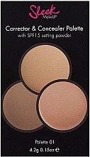 Палитра коректори за лице - Sleek MakeUP Corrector and Concealer Palette — снимка N4