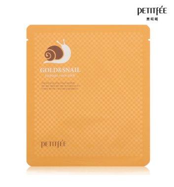 Хидрогел маска за лице със злато и екстракт от охлюв - Petitfee & Koelf Gold & Snail Hydrogel Mask Pack — снимка N2