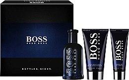Парфюми, Парфюмерия, козметика Hugo Boss Boss Bottled Night - Комплект (edt/100ml + ash/balm/75ml + sh/gel/50ml)