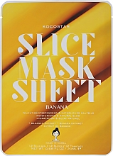 Парфюмерия и Козметика Маска за лице с екстракт от банан - Kocostar Slice Mask Sheet Banana