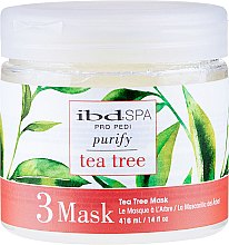 Парфюмерия и Козметика Почистваща маска за крака с екстракт от чаено дърво - IBD Tea Tree Purify Pedi Spa Mask