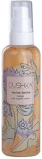 """Тоник за суха кожа """"Water drops"""" - Dushka — снимка N1"""