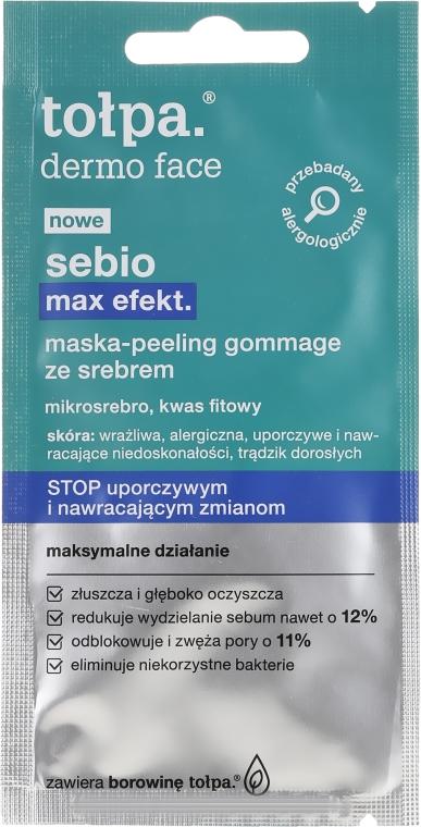 Пилинг маска за лице със сребърни микрочастици и фитинова киселина - Tolpa Sebio Max Effect Mask Peeling — снимка N1