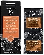 Парфюмерия и Козметика Скраб за лице с кайсия - Apivita Express Beauty Face Scrub Apricot