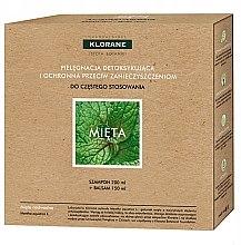 Парфюми, Парфюмерия, козметика Комплект за коса - Klorane Aquatic Mint (шампоан/200ml + балсам/150ml)