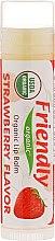 """Парфюмерия и Козметика Балсам за устни """"Ягода"""" - Friendly Organic Lip Balm Strawberry"""