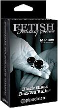 Парфюмерия и Козметика Вагинални топчета от стъкло, черни, 2 бр. - PipeDream Fetish Fantasy Series Black Glass Ben-Wa Balls