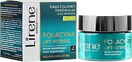 Парфюмерия и Козметика Ултра-овлажняващ и подмладяващ нощен крем за лице - Lirene Folacyna Lift Intense Cream 40+
