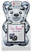 Парфюмерия и Козметика Памучна маска за лице с въглен - SNP Ice Bear Charcoal Mask
