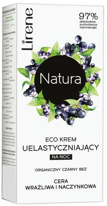 Нощен крем за лице с екстракт от бъз - Lirene Natura Eco Cream — снимка N1