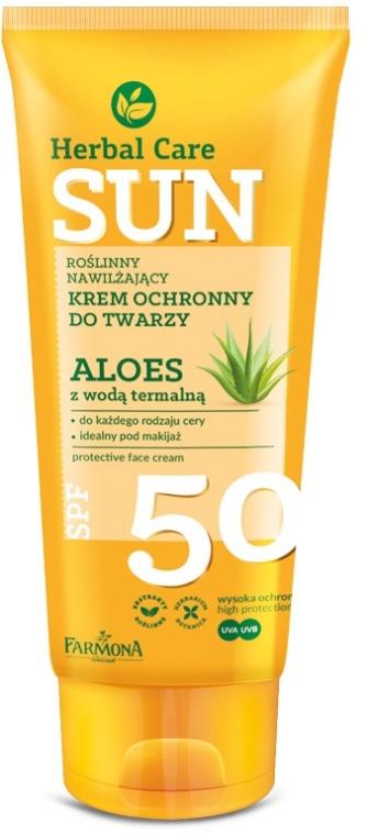 Слънцезащитен крем за лице SPF 50 - Farmona Herbal Care Sun SPF 50
