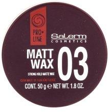 Парфюми, Парфюмерия, козметика Матов восък за коса - Salerm Matt Wax