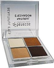 Парфюмерия и Козметика Benecos Natural Quattro Eyeshadow - Четворка сенки за очи