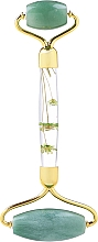 Парфюмерия и Козметика Масажор за лице, зелен нефрит с цветя - Lash Brow Roller