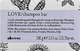 Парфюмерия и Козметика Изглаждащ твърд шампоан за непокорна коса - Davines Essential Haircare Love Smooth Shampoo Bar