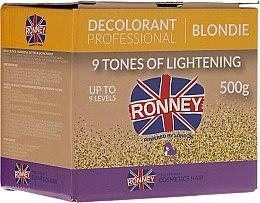 Парфюми, Парфюмерия, козметика Изсветляваща пудра за коса до 9 тона - Ronney Decolorant Professional Blondie