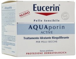 Парфюмерия и Козметика Крем за лице - Eucerin AquaPorin Active Deep Long-lasting Hydration For Dry Skin