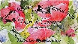 """Парфюмерия и Козметика Натурален сапун """"Полски цветя"""" - Florinda Sapone Vegetale Vegetal Soap Wild Flowers"""