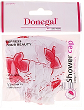 Парфюмерия и Козметика Шапка за баня бели и червени цветя 9298 - Donegal