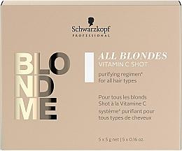 Парфюмерия и Козметика Шот терапия с витамин C за руса коса - Schwarzkopf Professional Blondme All Blondes Vitamin C Shot