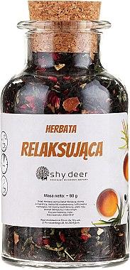 Комплект за суха и нормалана кожа - Shy Deer Ritual Spa & Relax (маска/50ml + пилинг/100ml + чай/90g + лента за глава/1 бр + козм. чанта/1 бр) — снимка N2