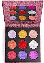 Парфюмерия и Козметика Палитра с блясъци за очи - Makeup Revolution Pressed Glitter Palette Diva