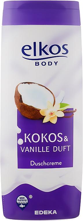"""Душ крем """"Кокос и ванилия"""" - Elkos Coconut & Vanilla Shower Gel"""