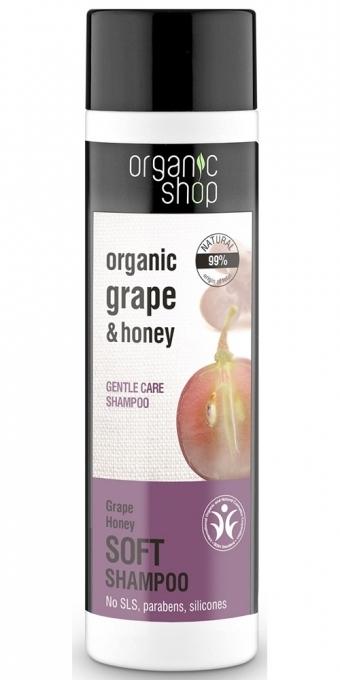 """Шампоан за коса """"Мека грижа"""" - Organic Shop Organic Grape and Honey Soft Shampoo"""