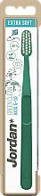 Парфюмерия и Козметика Детска четка за зъби, 5-10 год., екстра мека, зелена - Jordan Green Clean Kids
