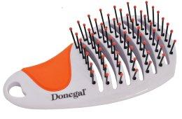 Четка за коса 1223, бяло с оранжево - Donegal Miss Tiny Hair Brush — снимка N2