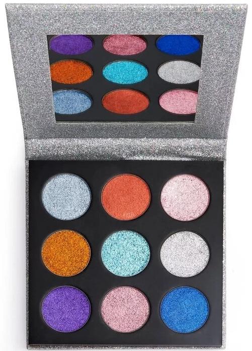 Палитра с блясъци за очи - Makeup Revolution Pressed Glitter Palette Illusion — снимка N3