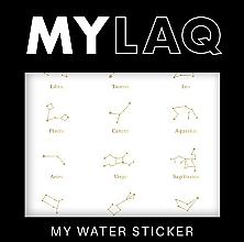 """Парфюмерия и Козметика Стикери за нокти """"Зодии"""" - MylaQ My Water Sticker"""